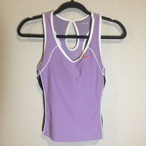 Pre-Owned Nike Swoosh Purple Tank Top